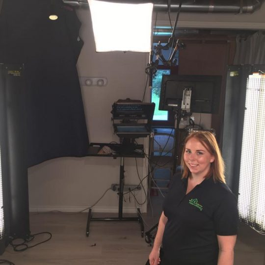 michelle moraal haliburton solar and wind video shoot