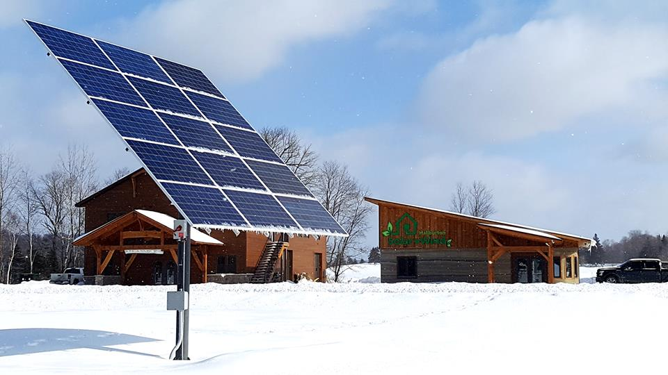Haliburton Solar and Wind winter solar panels